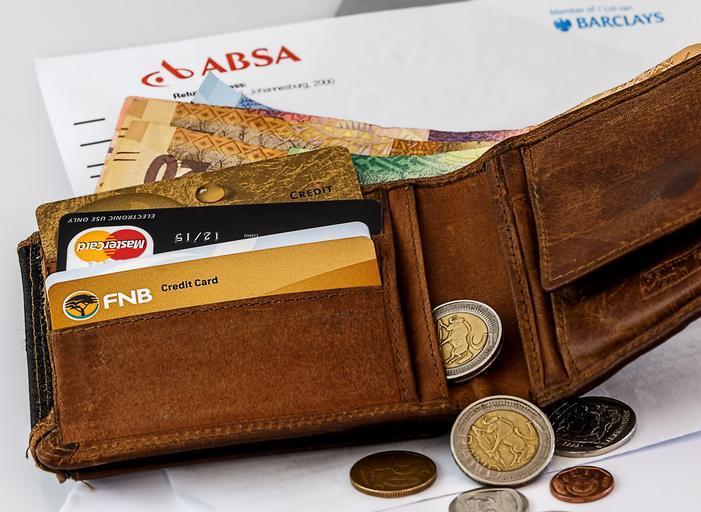 peněženka s účtem